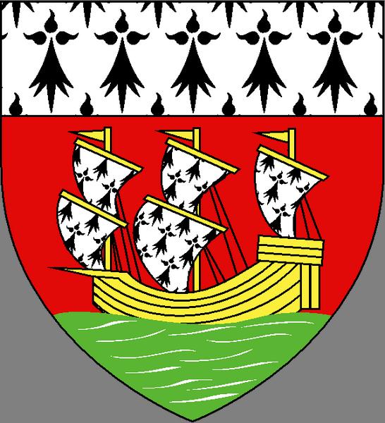Quelques blasons du Pays Nantais dans Connaitre la Bretagne nantes
