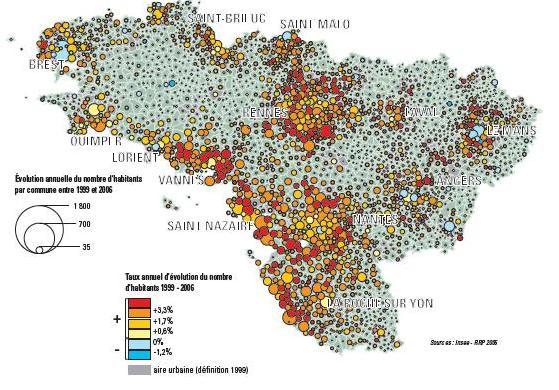 Taux annuel d'évolution du nombre d'habitants