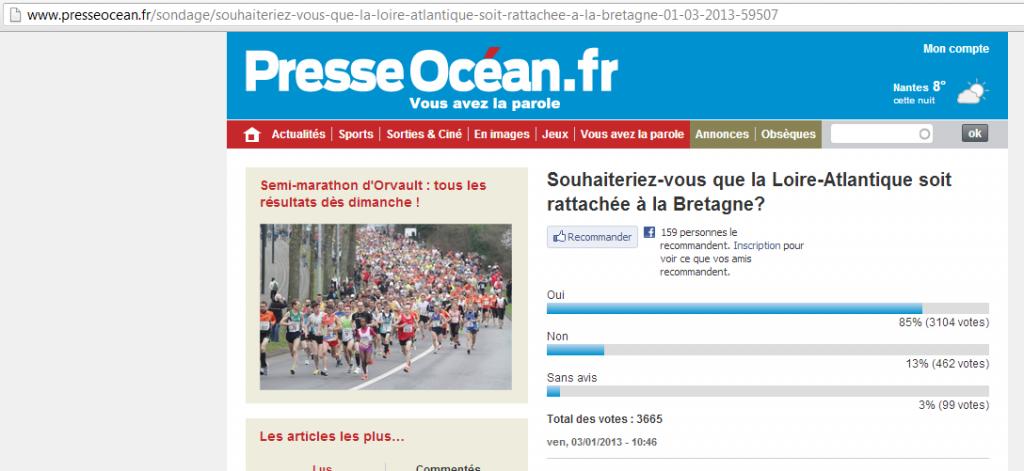 Sondage sans appel en faveur de la réunification dans reunification sondage-presse-ocean-fev-2013