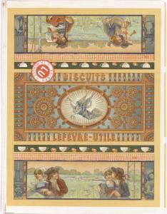 Emballage de biscuits LUs entre 1901 et 1911